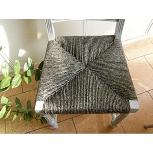 chaise henri II paille tissu noir et or