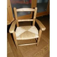 fauteuil enfant paille tissu portfolio