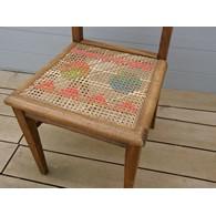 chaise canne brodée portfolio