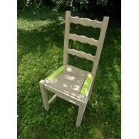 chaise tissée paille tissu portfolio
