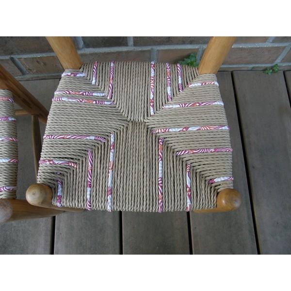 Chaises paille nature et paille enrobée de tissu Enfant 2