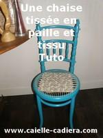 Une chaise tissée en paille et tissu - Tuto