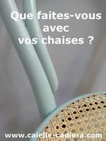 Que faites-vous avec vos chaises ?