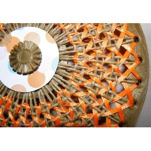 cannage circulaire ficelle de lin et ruban