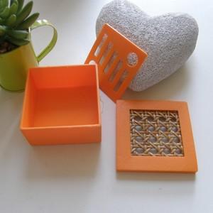 Boîte à savon orange - cannée