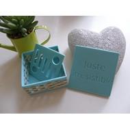Boîte à savon turquoise - Juste irrésistible