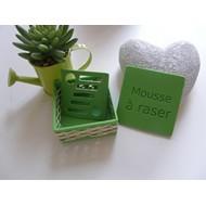 Boîte à savon verte - Mousse à raser