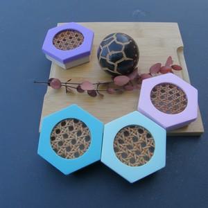 Boîtes à savon hexagonales - Les couleurs