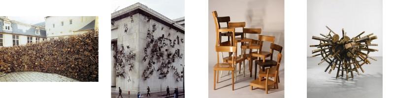 Accumulation de chaises et art 1