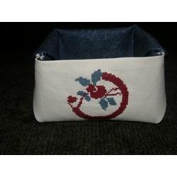 Vide poche - Motif en rouge et bleu