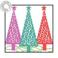 Grille gratuite point de croix - Arbres de Noël