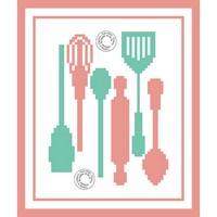Grille gratuite - Ustensiles de cuisine