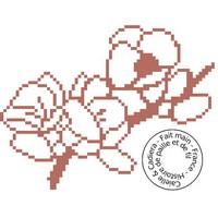 Grille gratuite point de croix - Fleurs rouges