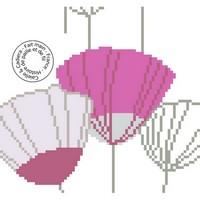 Grille gratuite - Fleurs parapluie