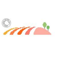 Grille gratuite point de croix - Collines colorées