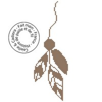 Grille gratuite point de croix - Perle et plumes