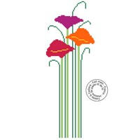 Grille gratuite - Fleurs à longue tige