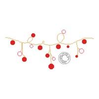 Grille gratuite - Guirlande de boules de Noël