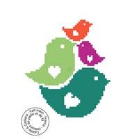 Grille gratuite - Oiseaux colorés