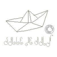 Grille gratuite - Salle de bain bateau origami