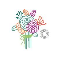 Grille gratuite - Simple bouquet de fleurs