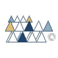 Grille gratuite - Motif triangles
