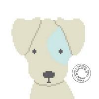 Grille gratuite - Tête de chien