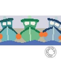Grille gratuite - Bateaux de pêche p
