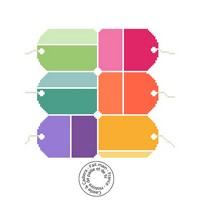 Grille gratuite - Etiquettes de couleur