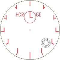 Grille gratuite de point de croix - Horloge indus