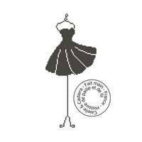 Grille gratuite - Mannequin robe