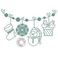 Grille gratuite - Guirlande de Noël