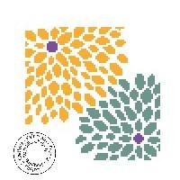 Grille gratuite - Fleurs en pointillés - Dahlia