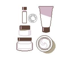 Grille gratuite - Les pots de la salle de bain