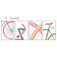 Grille gratuite - A bicyclette (quatre vues)