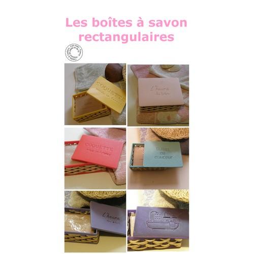 Boîtes à savon rectangulaires