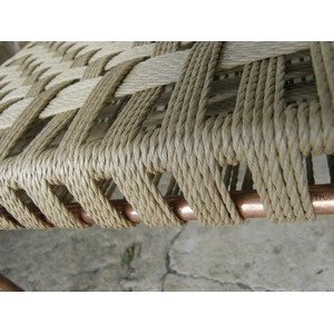 Repose-pieds tressé de corde danoise
