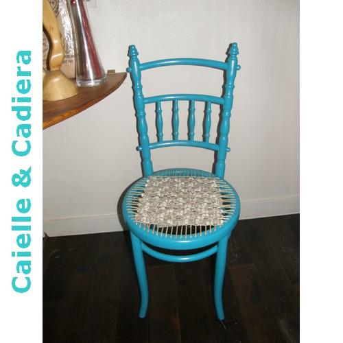 Tuto - Une chaise en paille et tissu