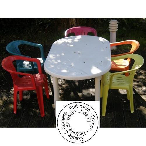 Tuto gratuit - Chaises de jardin colorées